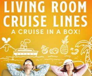 living room cruise lines poster