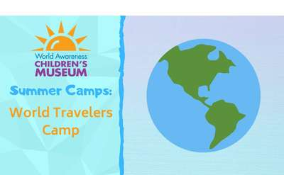summer camp flier, planet