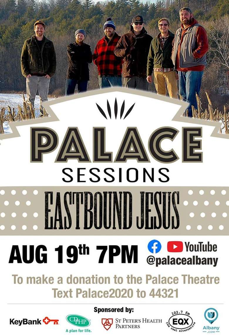 palace sessions with eastbound jesus event poster