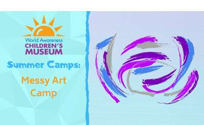 Messy Art Camp event poster