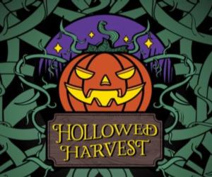 logo for hollowed harvest event