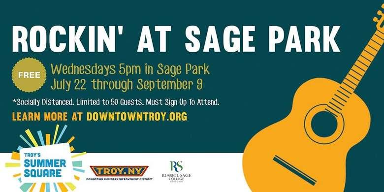 rockin at sage park event poster