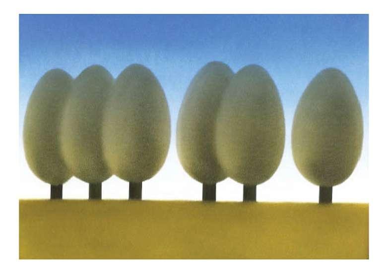 Trees - David Gordon - Oil on Board