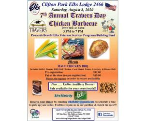 clifton park elks bbq poster