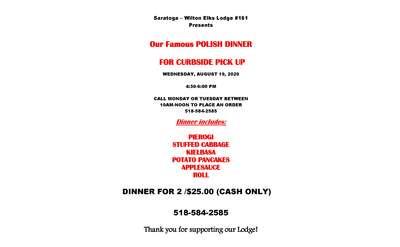 polish dinner flyer