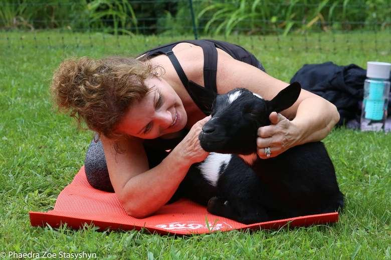Into The Woods Farm Goat Yoga