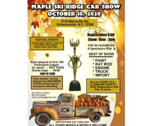 maple ski ridge car show event poster