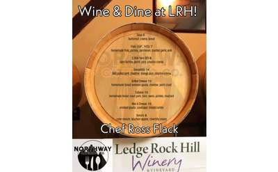 Wine & Dine at Ledge Rock Hill Winery