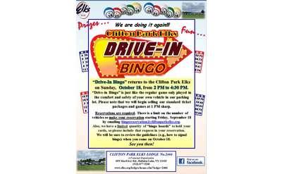 """""""Drive-in Bingo"""" Flyer"""