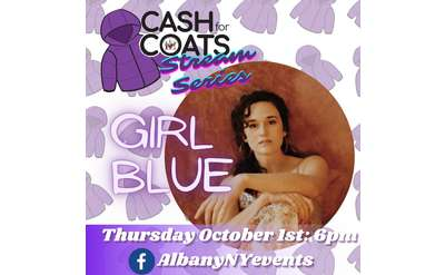 cash for coats stream series event poster featuring girl blue