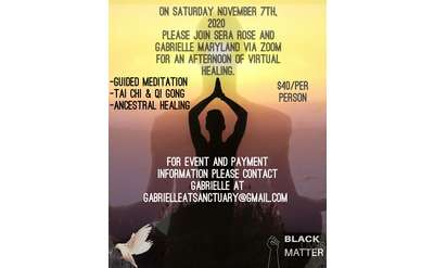 Event Flyer for Virtual Healing Event