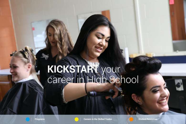 hairstyling students