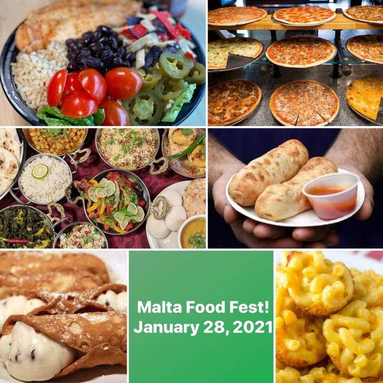 poster of malta food fest with multiple images of food
