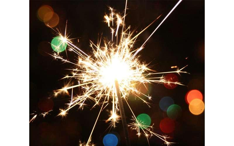 a bright sparkler