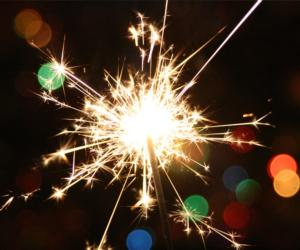 a sparkler with colors