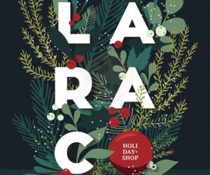 larac holiday shop poster
