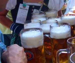 a bunch of beer glasses cheersing