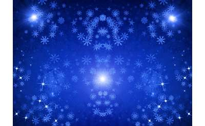 blue sparkles and snowflakes wallpaper