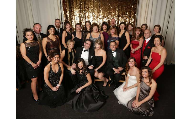 gala guests posing for a photo