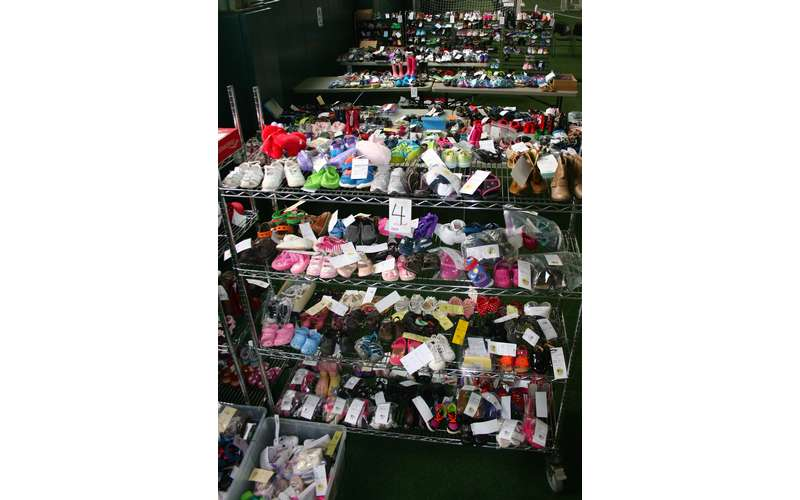 racks of kids clothing