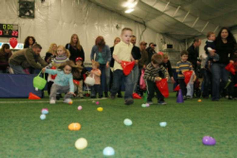 easter egg hunt indoors