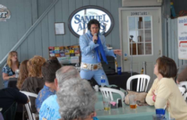 elvis tribute artist performing at the boardwalk