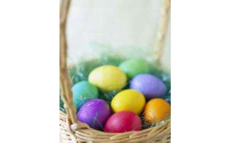 a basket of easter eggs