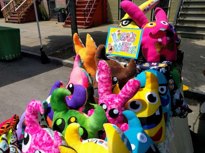 colorful stuffed animals