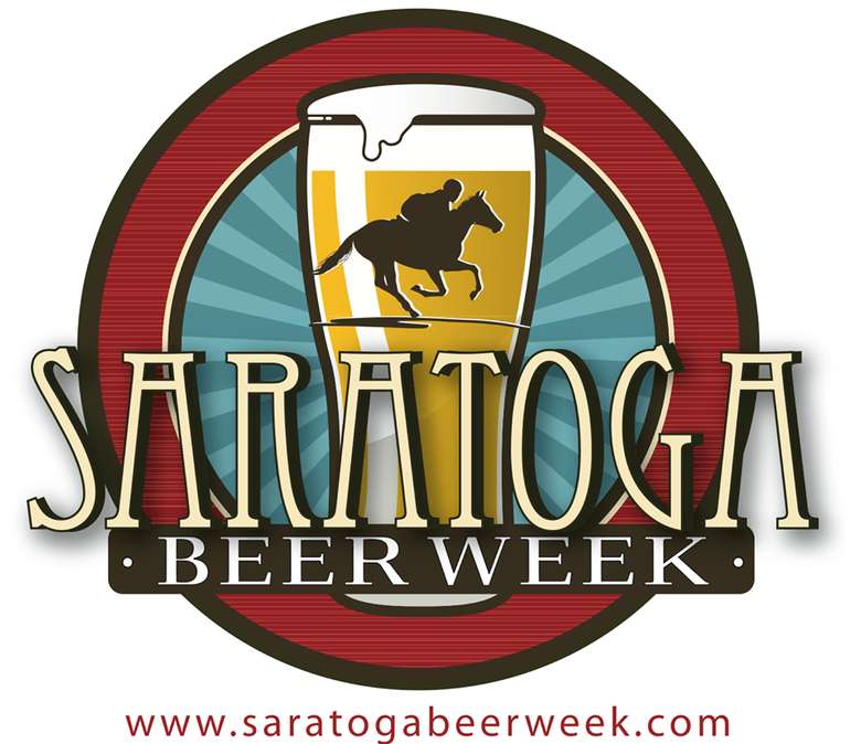 logo for saratoga beer week