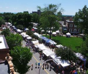 craft festival tents from above