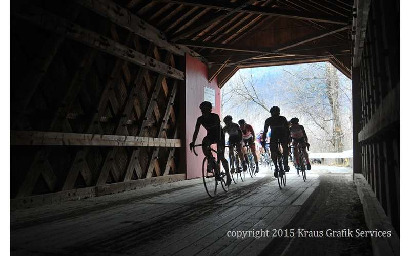 cyclists going through a tunnel