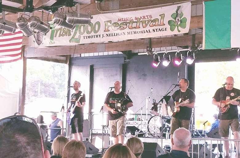 irish band on stage
