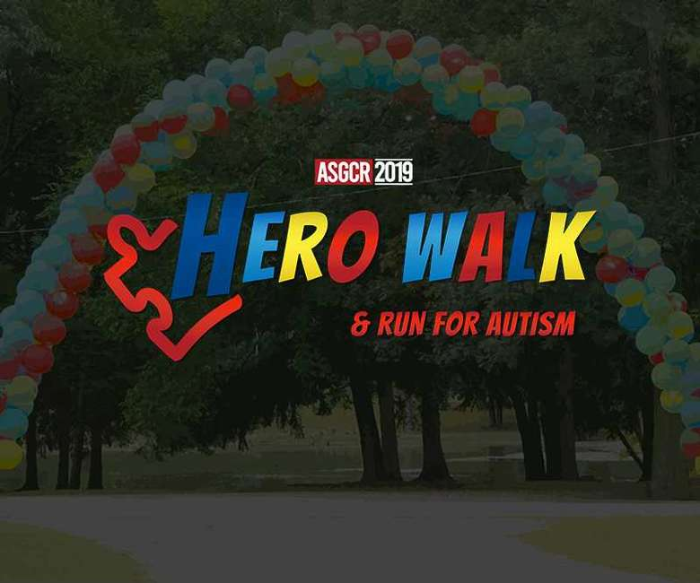 Logo for Hero Walk and Run for Autism
