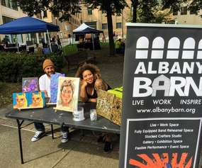 Albany Barn vendor booth