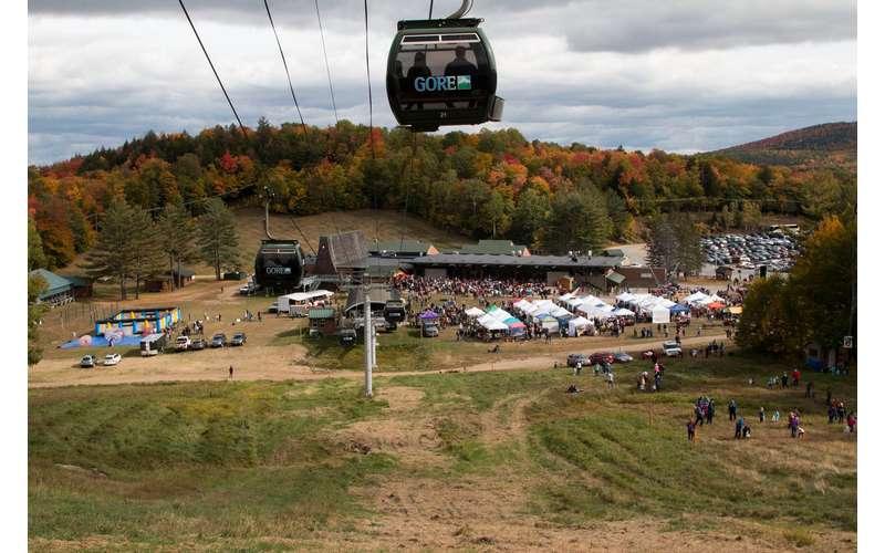gore mountain gondola at harvest fest