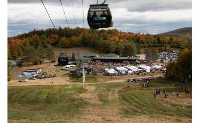 gore mountain gondola at harvest fest