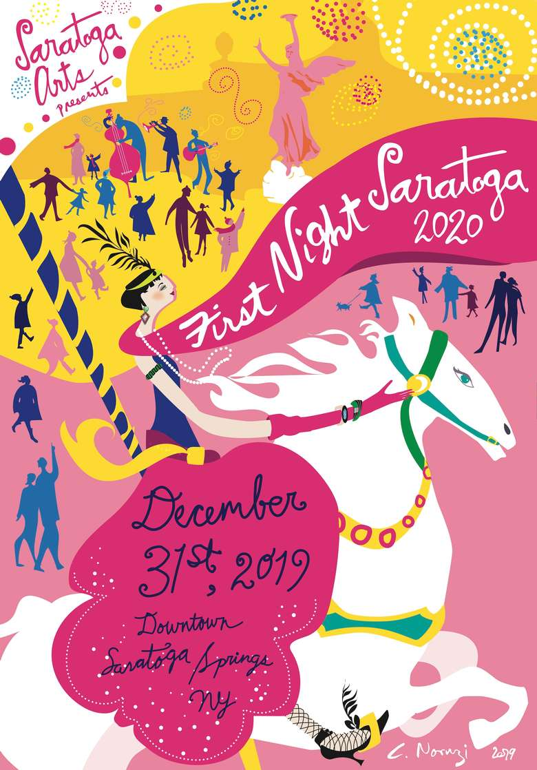 First Night Saratoga 2020 poster