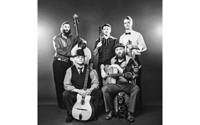 black and white photo of musicians
