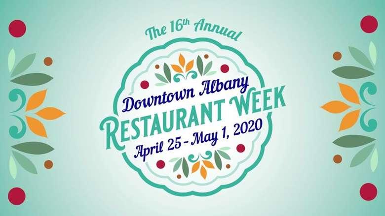 downtown albany restaurant week logo