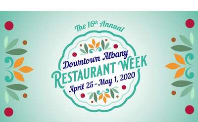 downtown albany restaurant week logo