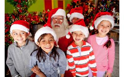 kids with holiday hats