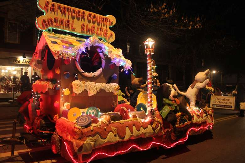 Saratoga County Animal Shelter float in parade