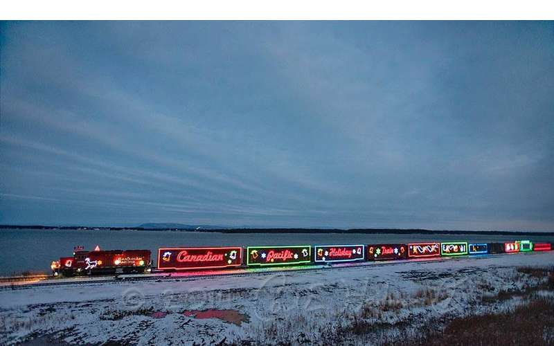 photo of the canadian-pacific holiday train moving