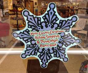 shopping dining night participant snowflake