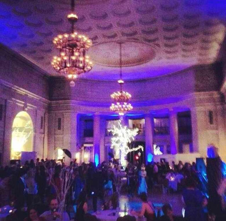 party inside the hall of springs