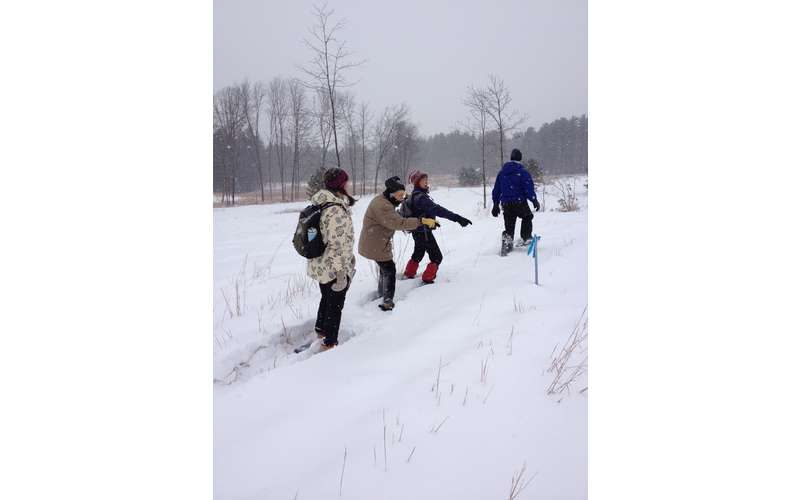 snowshoers