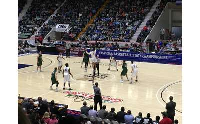 high school basketball teams playing at cool insuring arena