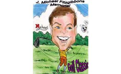 cartoon drawing of golfer with big head