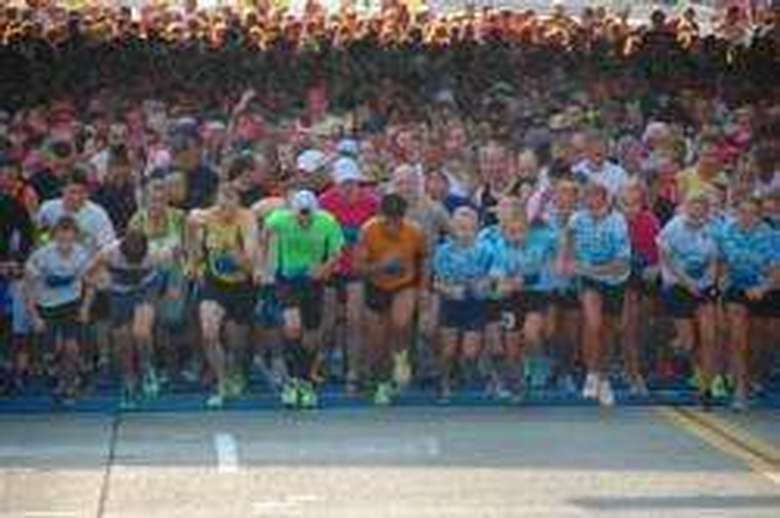 Start line of the race