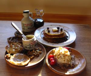 food with maple products on table
